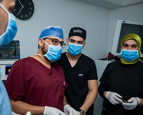 Dr Ahmed Rashed and the medical team at city hospital.